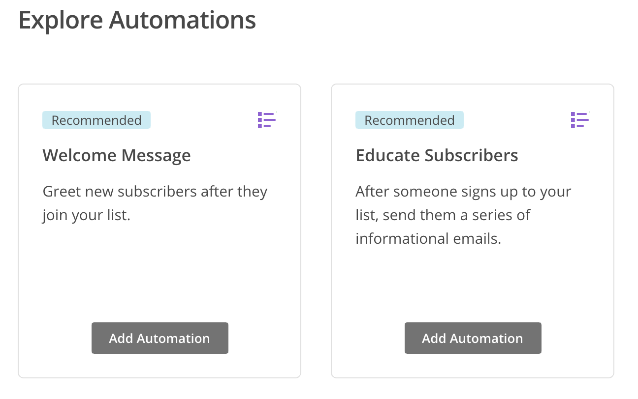 MailChimp Onboarding Email Automation