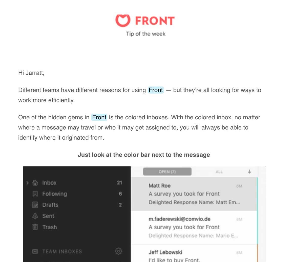 Frontapp tip of the week