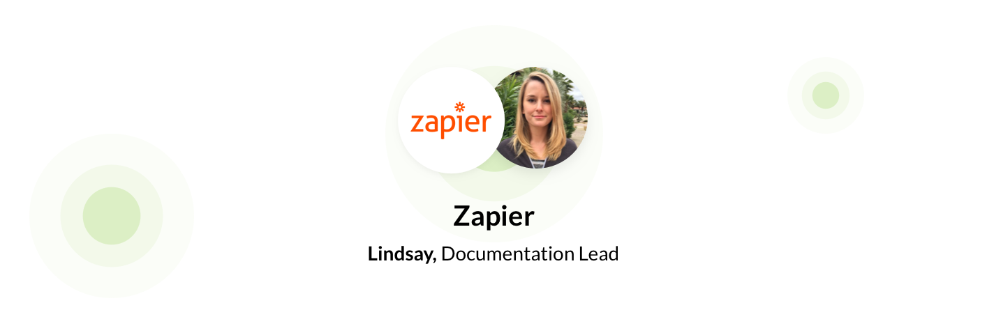Lindsay, documentation lead at Zapier