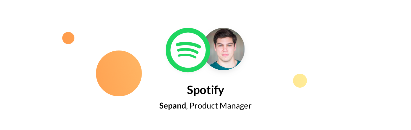 Sepand Norouzi, Spotify Product Manager
