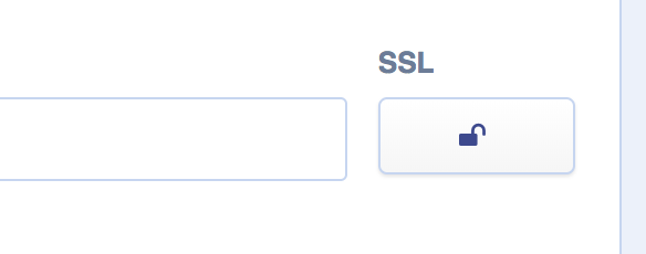 Padlock button for SSL