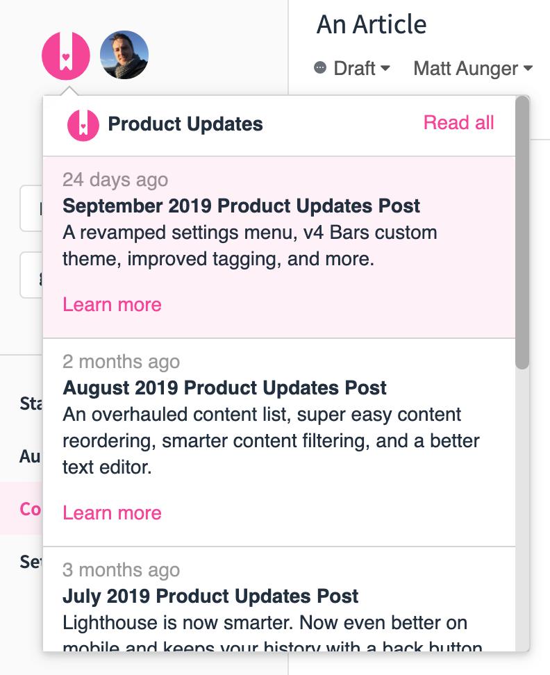 Product Updates Stream